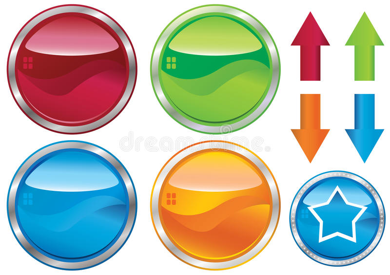 Empty Web Buttons And Label_eps vector illustration