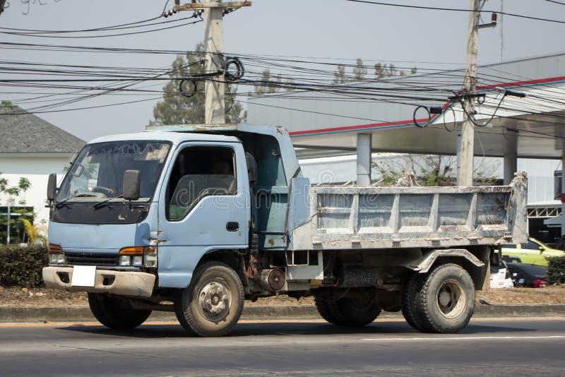 Empty 6 Wheel Dump truck. On highway road stock photos