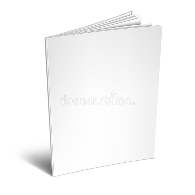 book or magazine open blank pages  isolated 3d vertical