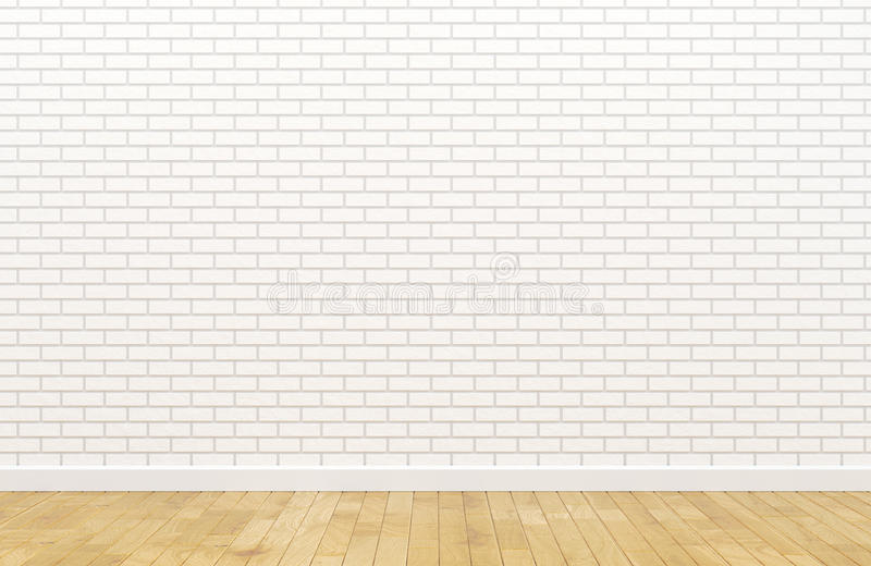 Empty white brick wall. Picture of empty white brick wall vector illustration