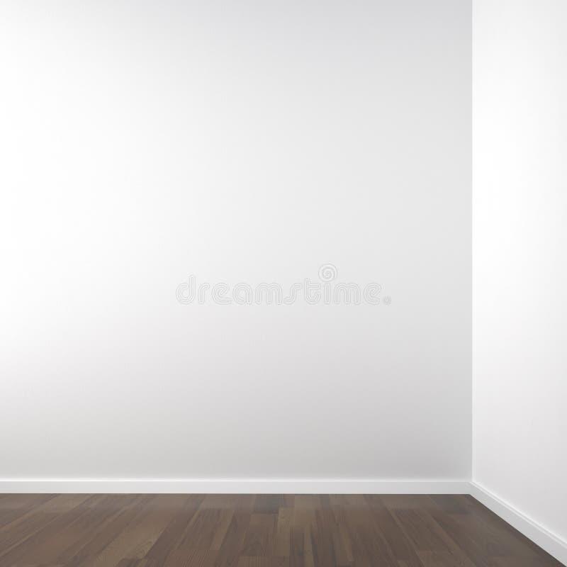 Empty white corner stock illustration
