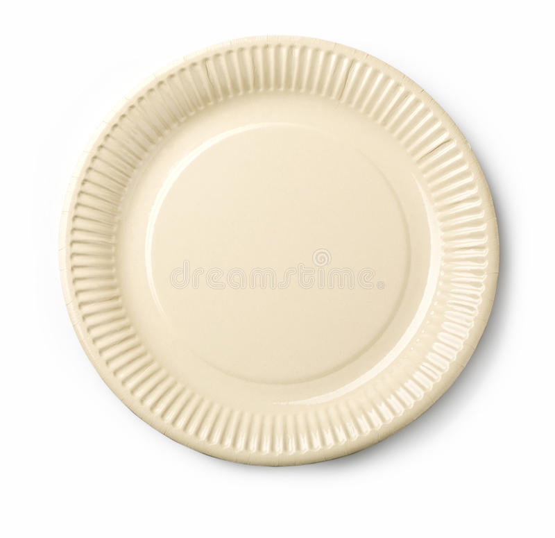 Empty White Dish I Stock Photo