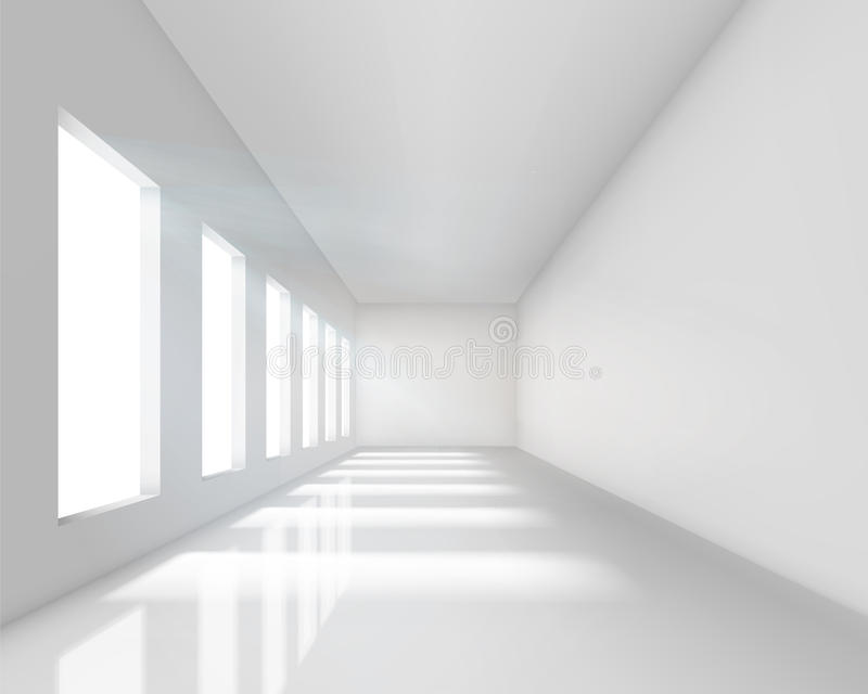 Download Empty White Interior Stock Image - Image: 19617881