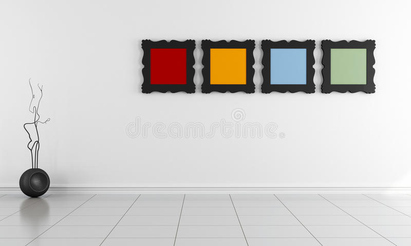 Download Bright Minimalist Empty Interior Stock Illustration