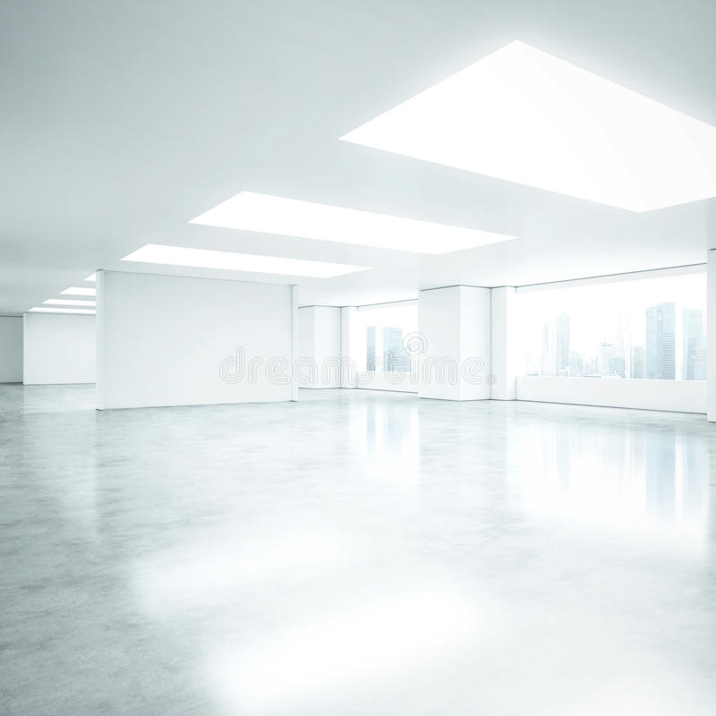 Empty white office interior royalty free stock photos