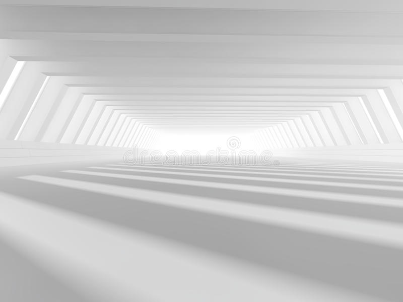 Empty white open space 3D rendering stock image