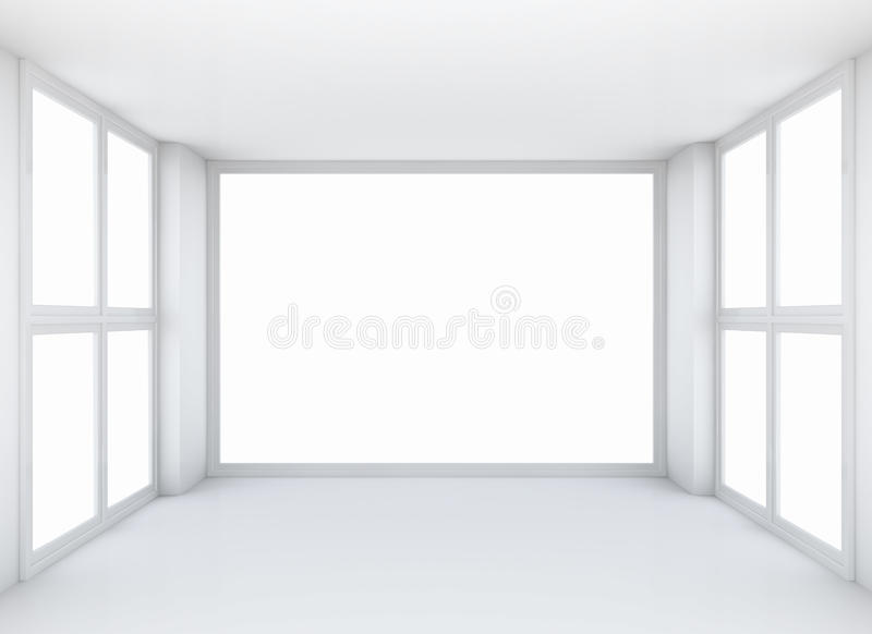 Empty white open space interior royalty free stock images