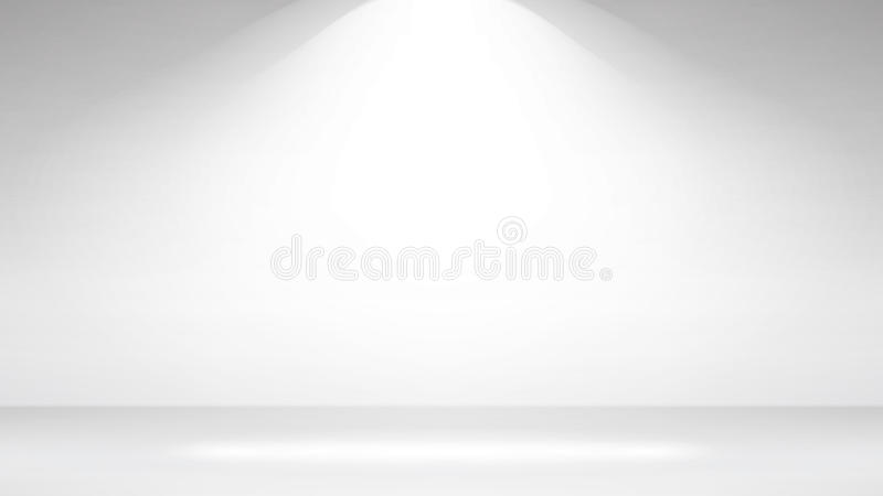 Empty White Photo Studio Interior Background. Realistic Empty White Wall. Vector Illustration. royalty free illustration