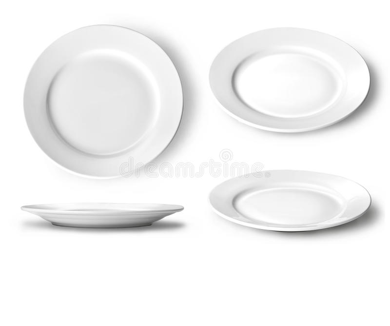 Download Empty white plate stock image. Image of flatware, breakfast - 25993057