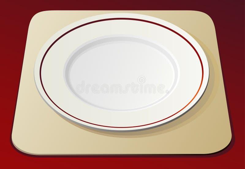 Empty white plate royalty free illustration