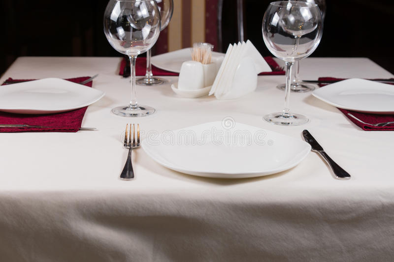 Download Empty White Plate In A Formal Table Setting Stock Photo - Image of catering & Empty White Plate In A Formal Table Setting Stock Photo - Image of ...