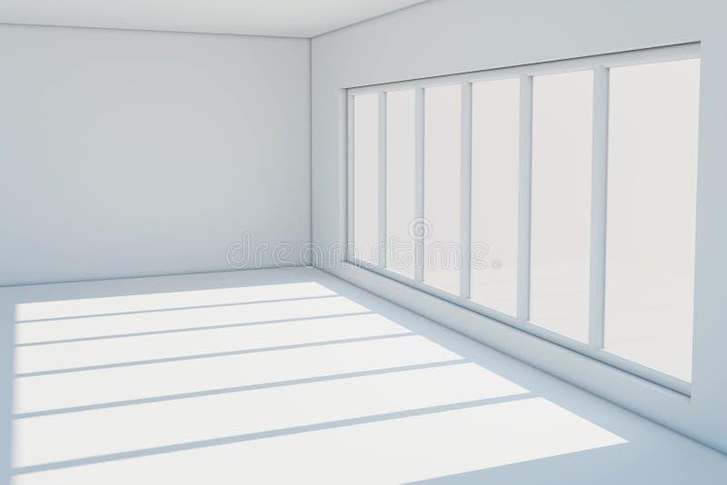 Download Empty white room stock illustration. Illustration of indoor - 27046810