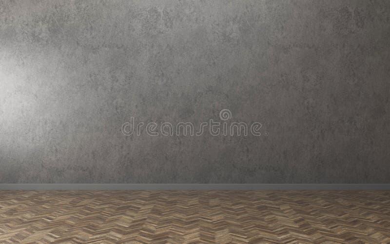 Empty White room in condominium. loft interior design. 3d rendering royalty free illustration