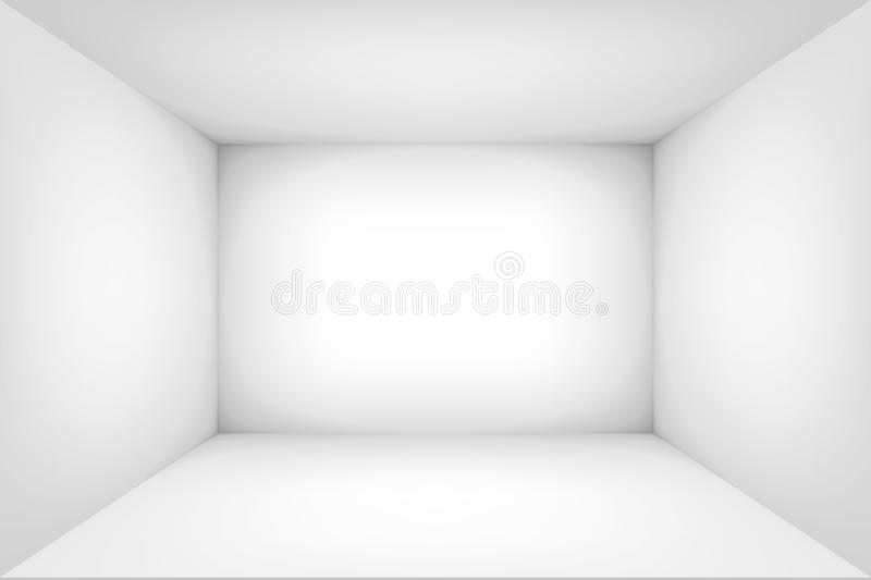 Empty white room. The inner space of the box. Vector design illustration. Mock up for you business project vector illustration