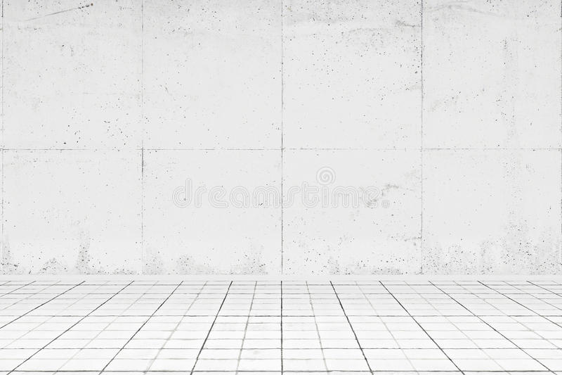 Empty white room with tiled floor vector illustration