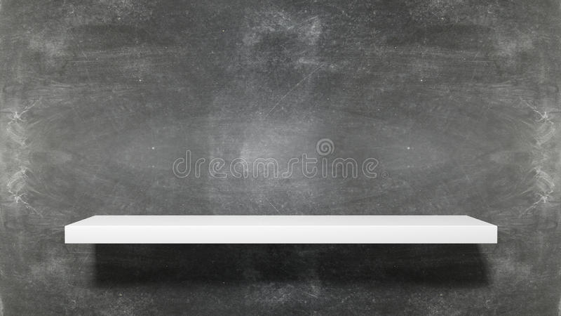Empty white shelf stock illustration