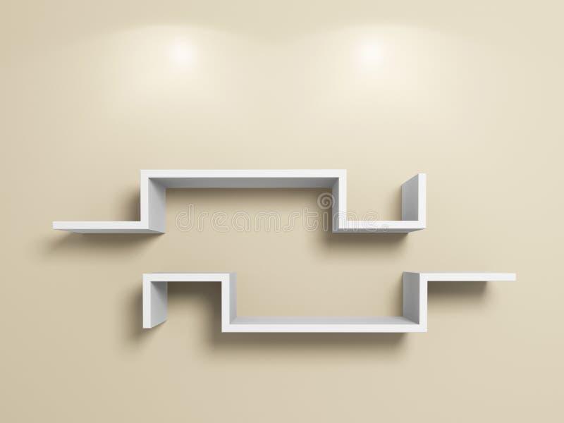 Download Empty white shelves stock illustration. Image of inside - 23277178