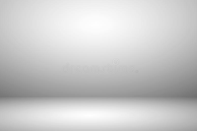 Empty white studio room with light and shadow abstract background. royalty free stock photography