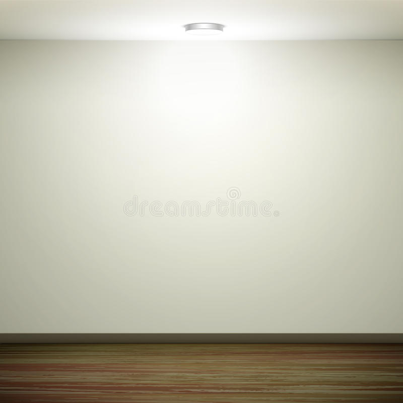 download empty white wall with light and wooden floor stock vector image
