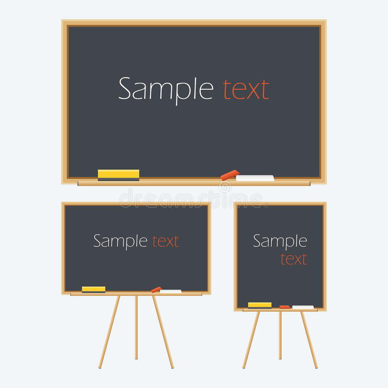Empty Whiteboard. For business presentations or teaching. Vector illustration stock illustration