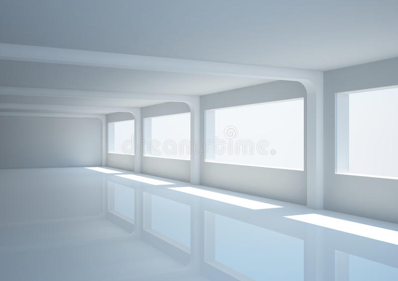 Download Empty Wide Hall With Columns Stock Illustration - Illustration of illustration, interior: 21744933