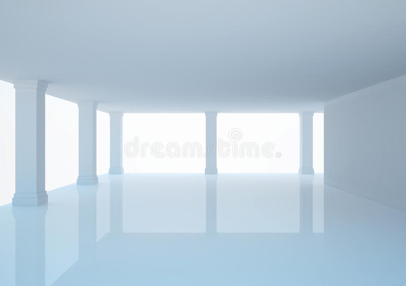 Download Empty Wide Hall With Columns, Open Space Stock Illustration - Image: 24902331