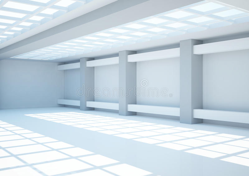 Download Empty Wide Room With Lattice Stock Illustration - Illustration of design, construction: 24902662