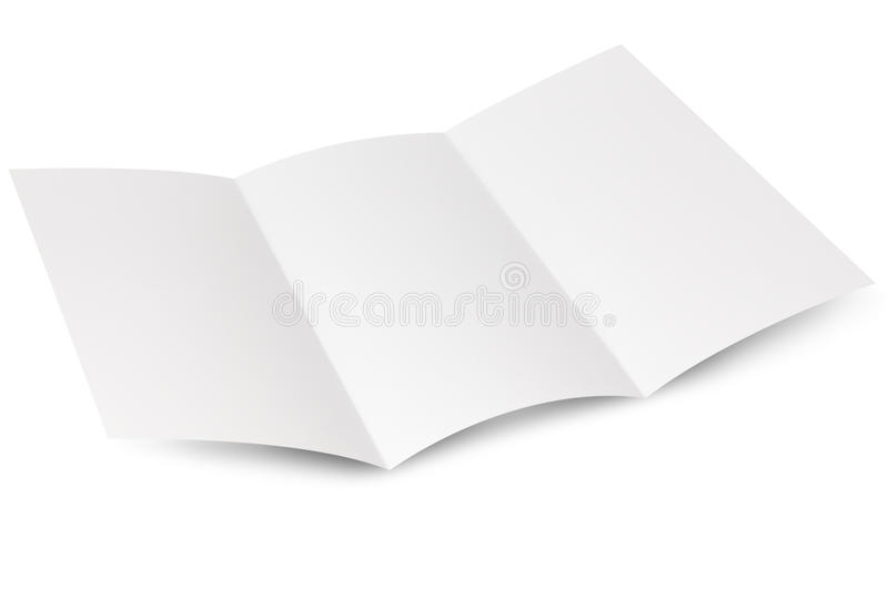 Empty window fold flyer. Empty window folded flyer, ready for your own design royalty free stock images