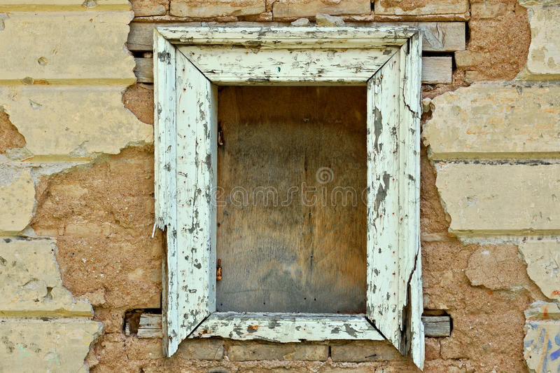 Empty Window Frame Grunge Background Texture Royalty Free Stock Photo
