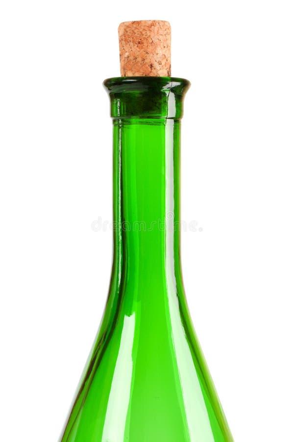 Empty wine bottle stock photography