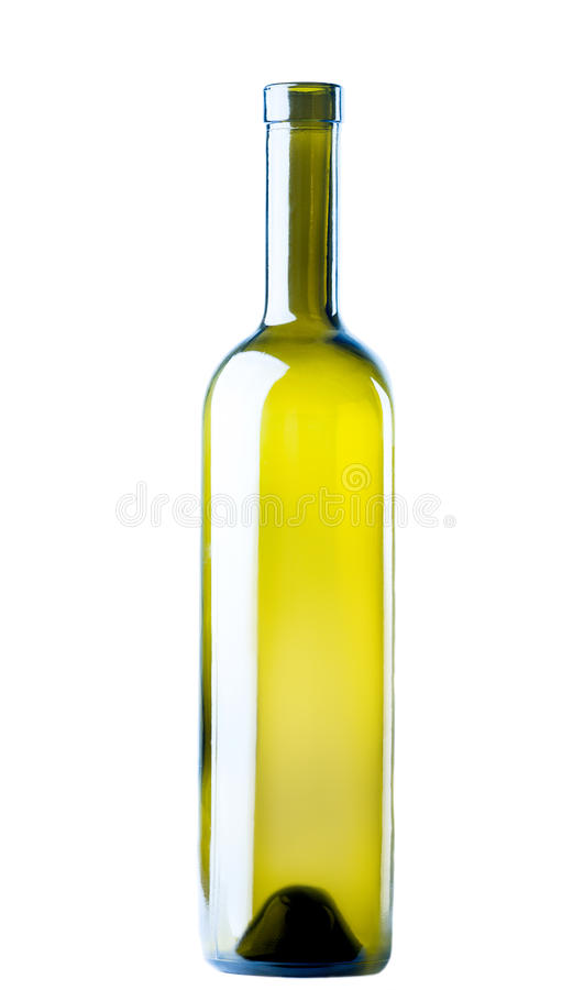 Empty wine bottle stock images