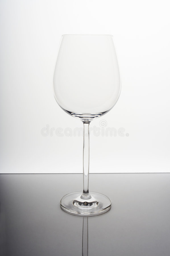 Empty wine glass royalty free stock photo