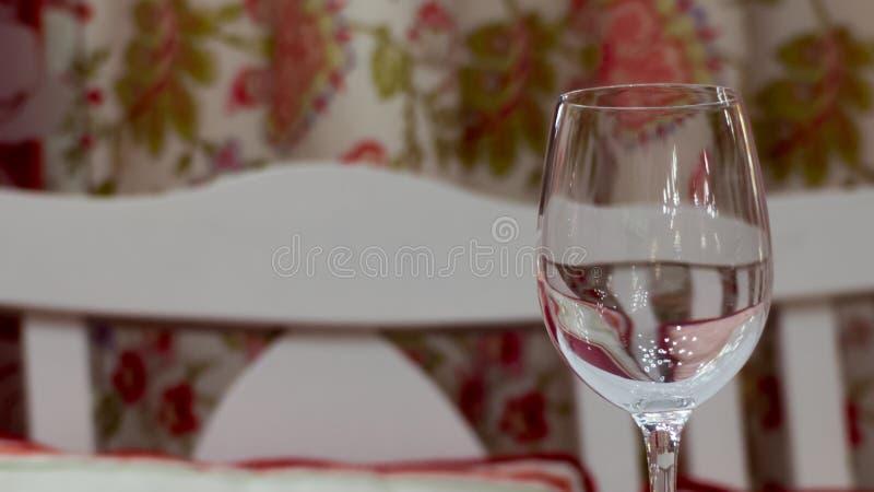 Empty wine glass stock photo