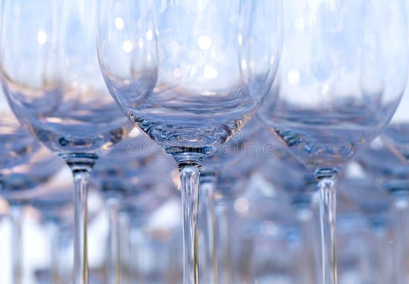 Empty wine glasses royalty free stock photo