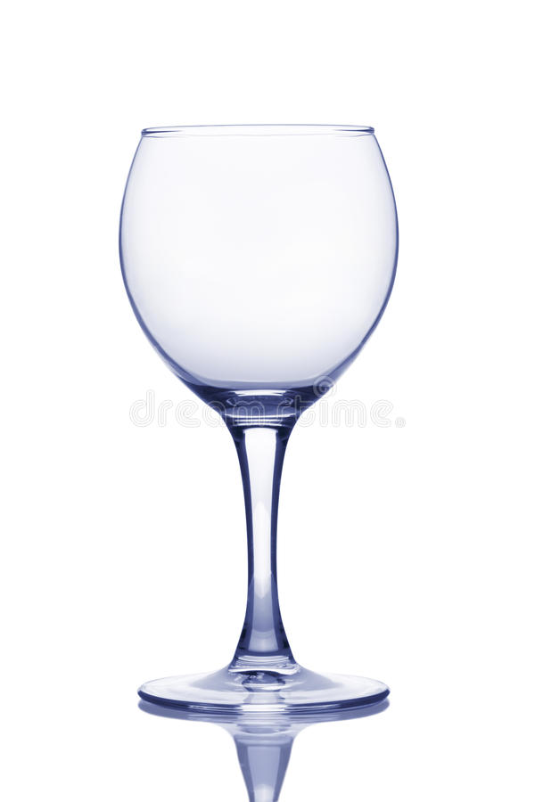 Download Empty wineglass. stock photo. Image of reflection, elegance - 17834498