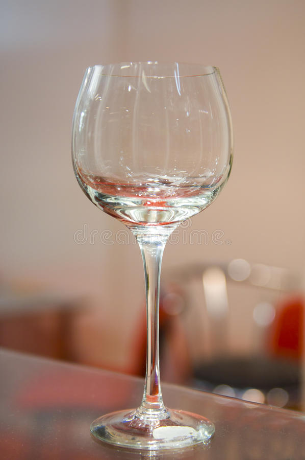 Empty Wineglass Stock Photography