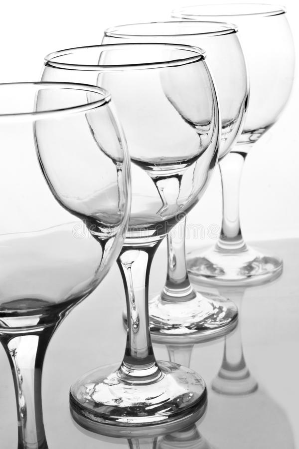 Download Empty Wineglasses With Reflection Stock Photo - Image: 13503148