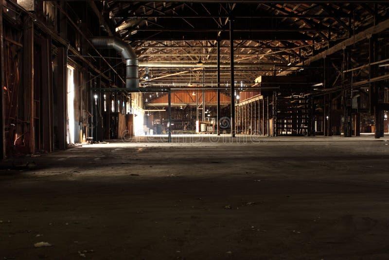 Empty wood warehouse stock images