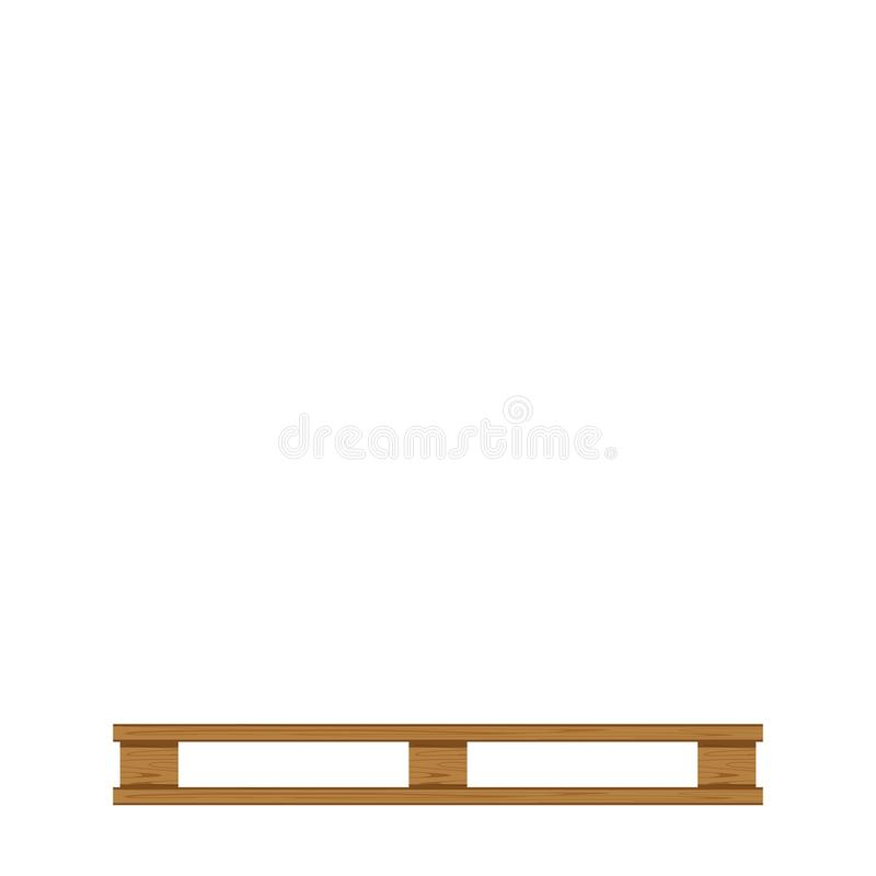Empty wooded pallet isolated on white background and copy space, blank pallet wood for placing products boxes stack in factory. The empty wooded pallet isolated royalty free illustration