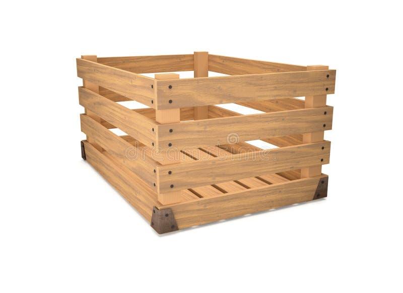 An empty wooden box. royalty free illustration