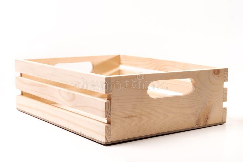 Empty wooden box stock image