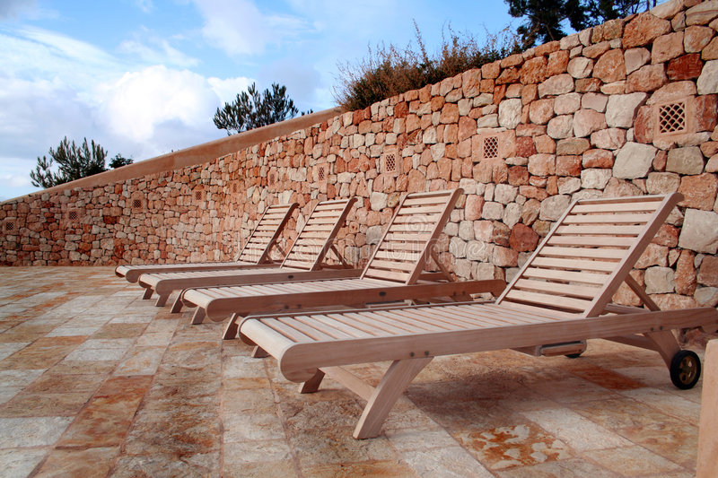 Download Empty wooden Chairs stock image. Image of stone, ibiza - 514397