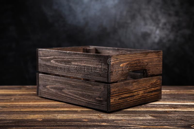 Empty wooden crate royalty free stock image