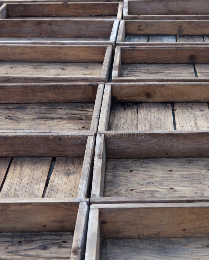 Free Empty Wooden Crates Royalty Free Stock Photography - 11137327