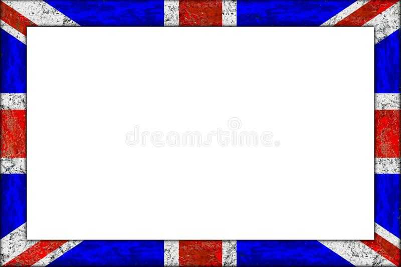 Empty Wooden Picture Frame Union Jack Flag Design Stock Image ...