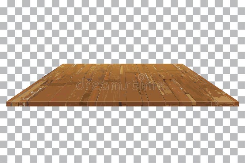 Empty wooden shelf Table background royalty free illustration