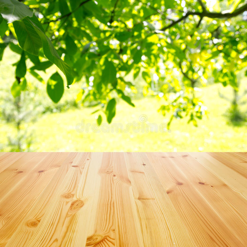 Empty wooden table royalty free stock image