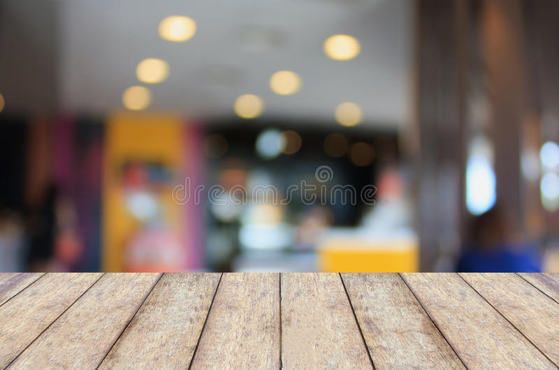 Empty wooden table and interior background stock images