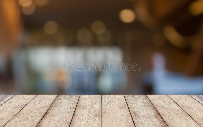 Empty wooden table and interior background royalty free stock image