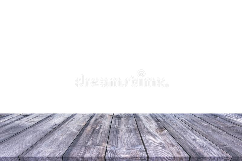 Wooden table isolated on white background royalty free stock photography